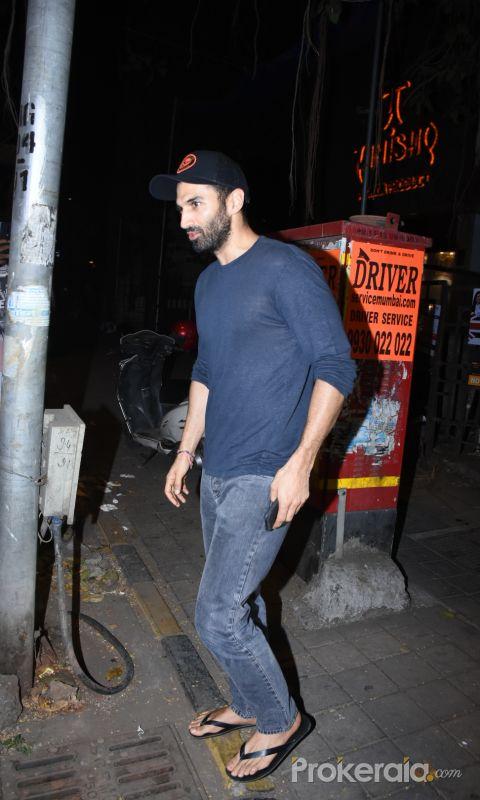 Actor Aditya Roy Kapur spotted at vishesh films office in bandra