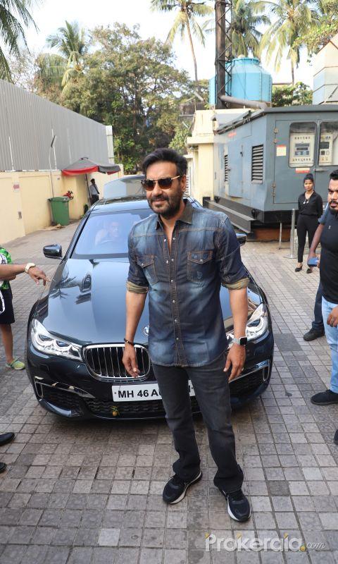 Actor Ajay Devgan At Special screening of  Movie Tanahji.