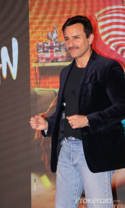 Actor  Saif Ali Khan in Launch of the Song Ole Ole  from the movie Jawaani Jaaneman.