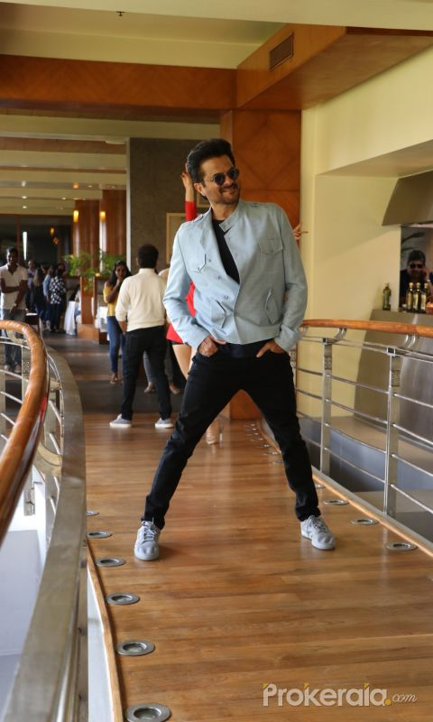 Actor Anil kapoor in a movie promotion Pagalpanti  at  Marriott juhu