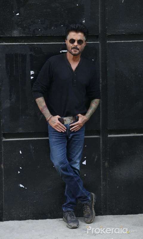 Actor Anil Kapoor posses for Photo.