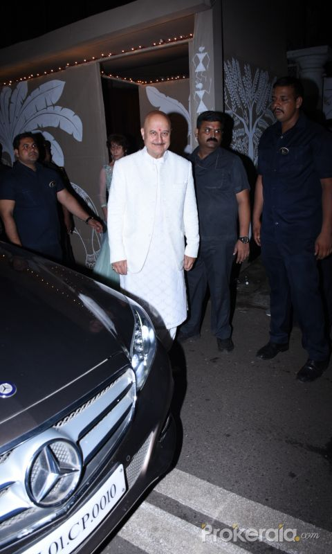 Actor Anupam Kher at actor Amitabh Bachchan's Diwali party