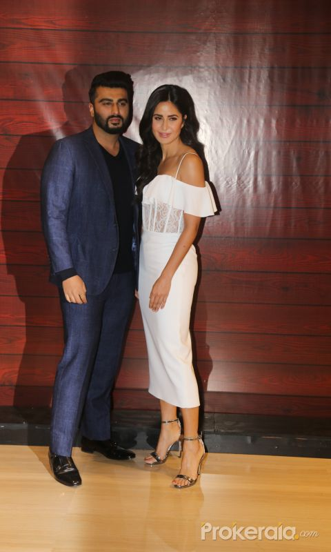Actor Arjun Kapoor and Katrina Kaif  at Javed Akhtar's Birthday.