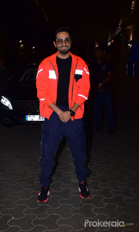 Actor Ayushmann Khurrana during the screening of film Thappad at pvr icon in andheri