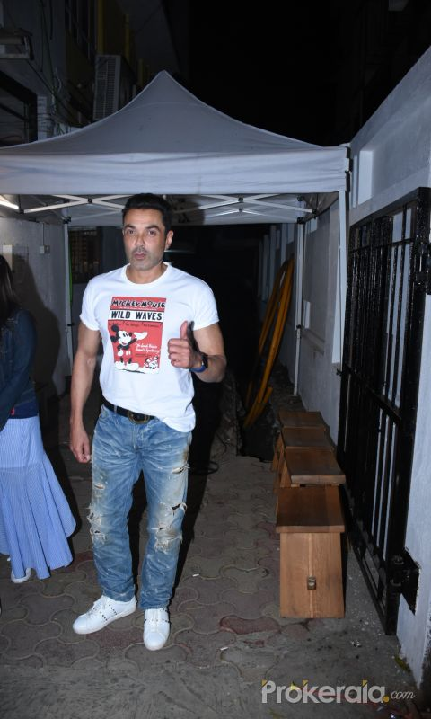 Actor Bobby Deol spotted at Izumi bandra