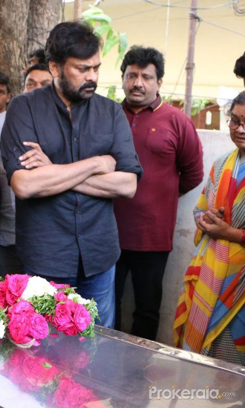 Actor Chiranjeevi Pays Final Respect to Sr Journalist Pasupuleti Ramarao