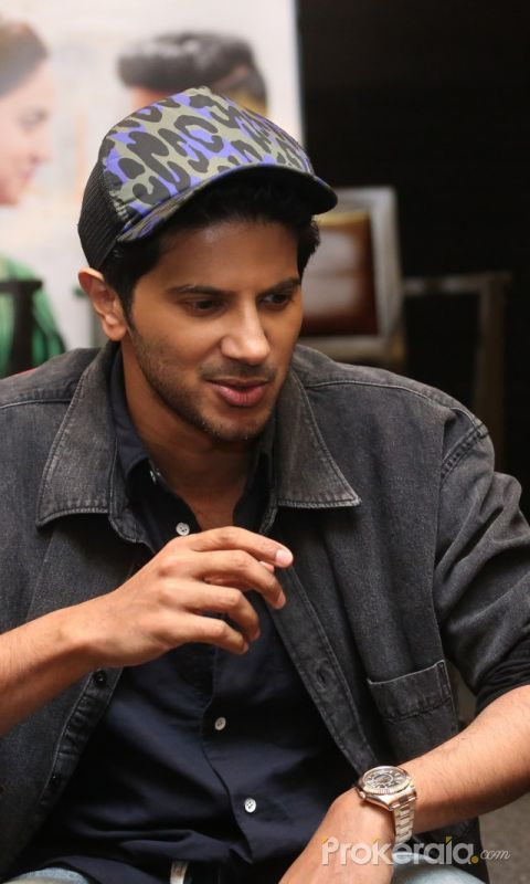 Actor Dulquer Salmaan at during the promotion of his movie
