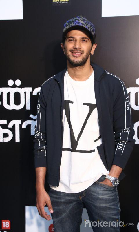 Actor Dulquer Salman at Press Release of movieKannum Kannum Kollaiyadithaal