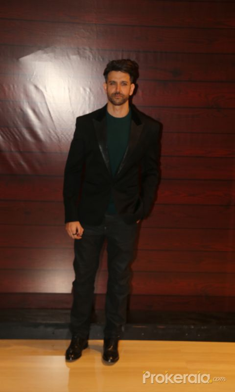 Actor Hrithik Roshan attend the Javed Akhtar's Birthday.