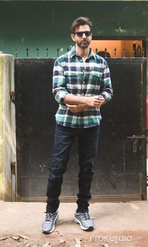 Actor Hrithik Roshan seen at versova.