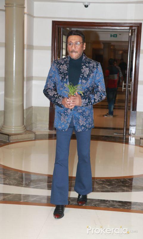 Actor Jackie Shroff at  Wedding reception of Rikuji's daughter at ITC Grand Maratha in Andheri
