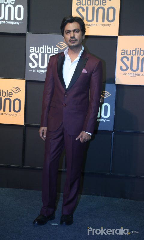 Actor Nawazuddin Siddiqu at the launch of Audible at famous studio in Mahalxmi.