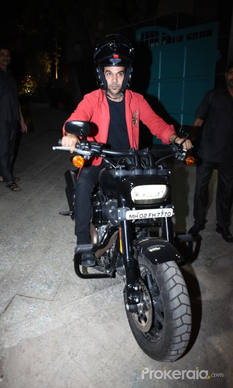 Actor Raj Kumar Rao seen at maddock films office in santacruz.