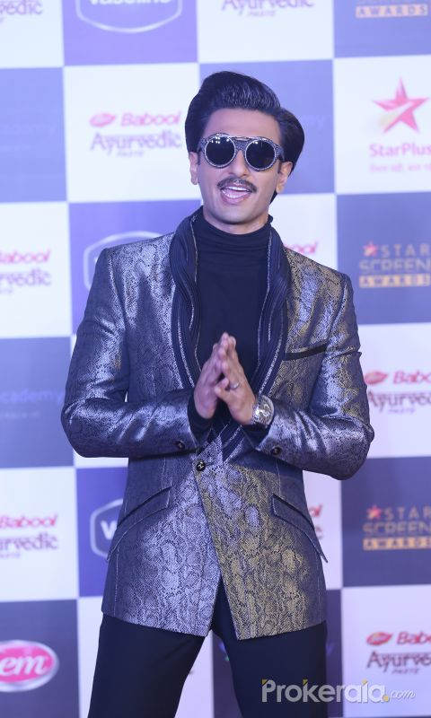 Actor Ranveer Singh in Star Screen Awards at BKC.