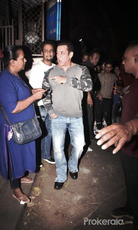 Actor Salman Khan at dubbing studio in bandra.