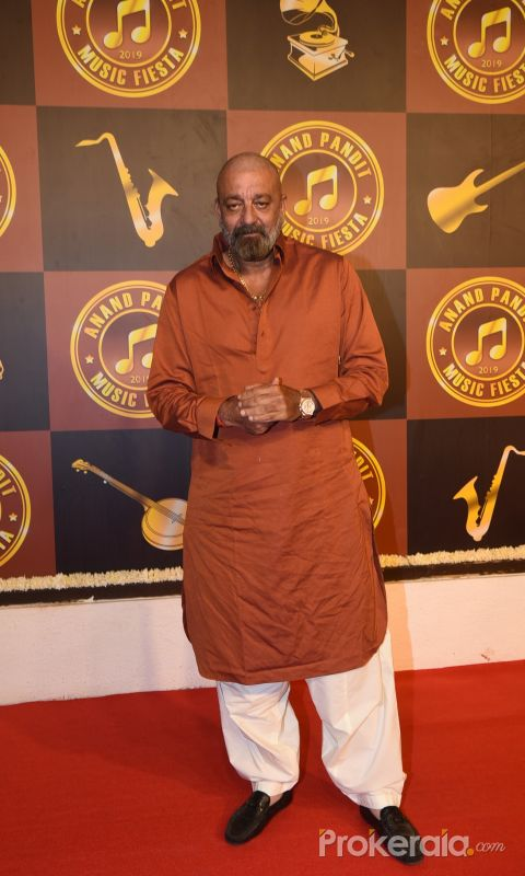 Actor Sanjay Dutt at Anand Pandit's birthday party.