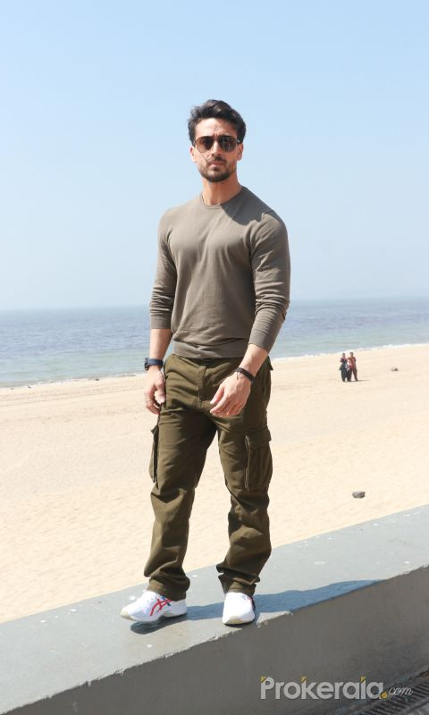 Actor Tiger Shroff for the promotions of film Baaghi 3 at Sun n Sand in juhu