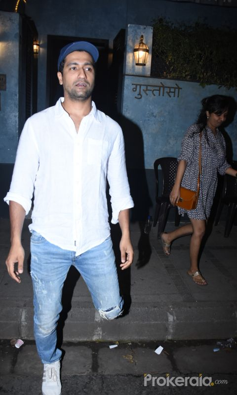 Actor Vicky Kaushal seen at bandra