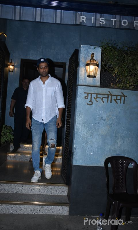 Actor Vicky Kaushal spotted at bandra