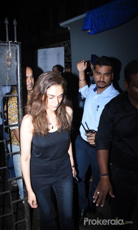 Actress Aditi Rao Hydari spotted at Bastian in bandra