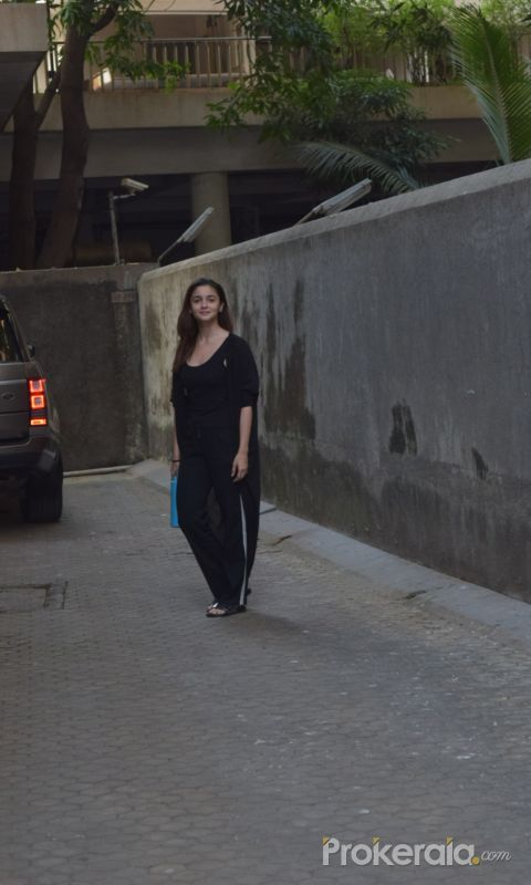 Actress Alia Bhatt seen at  Sanjay Leela Bhansali's office in juhu