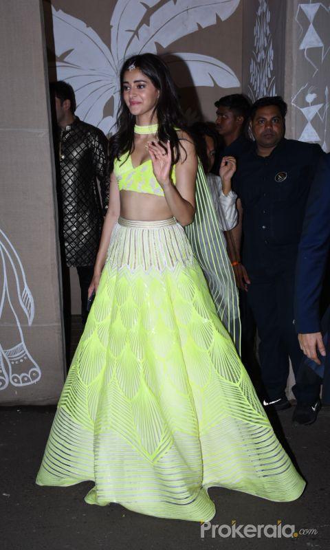 Actress Ananya Pandey at actor Amitabh Bachchan's Diwali party