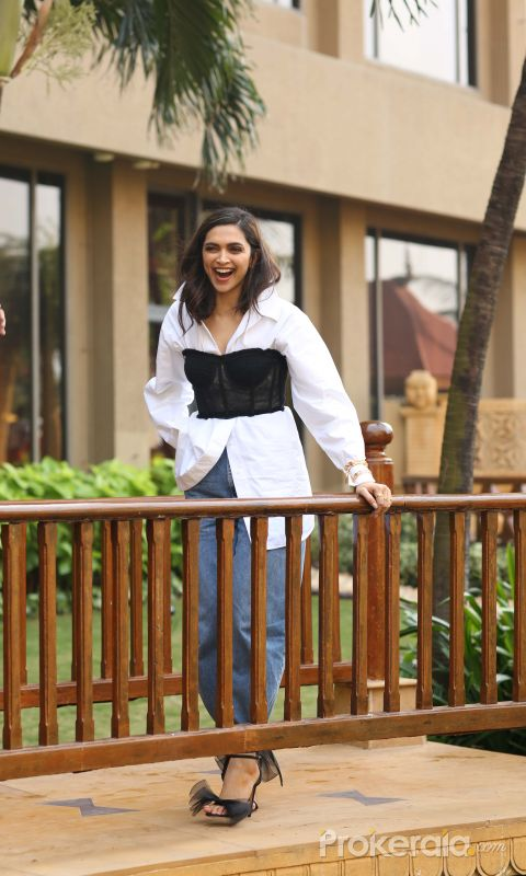 Actress Deepika Padukone at promotion of her film Chhapaak