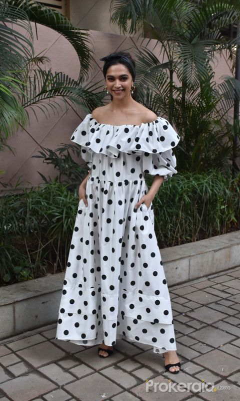 Actress Deepika Padukone seen at Andheri