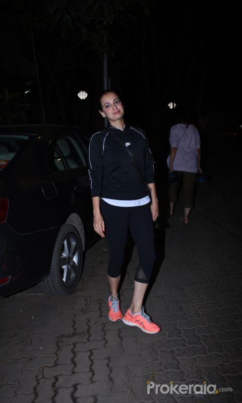 Actress Dia Mirza seen at bandra.