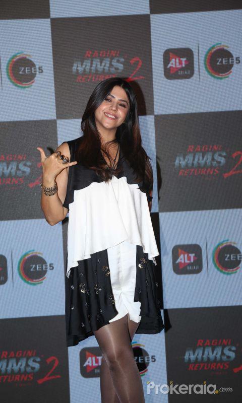 Actress Ekta Kapoor at the launch of Ragini MMS 2 returns at andheri.