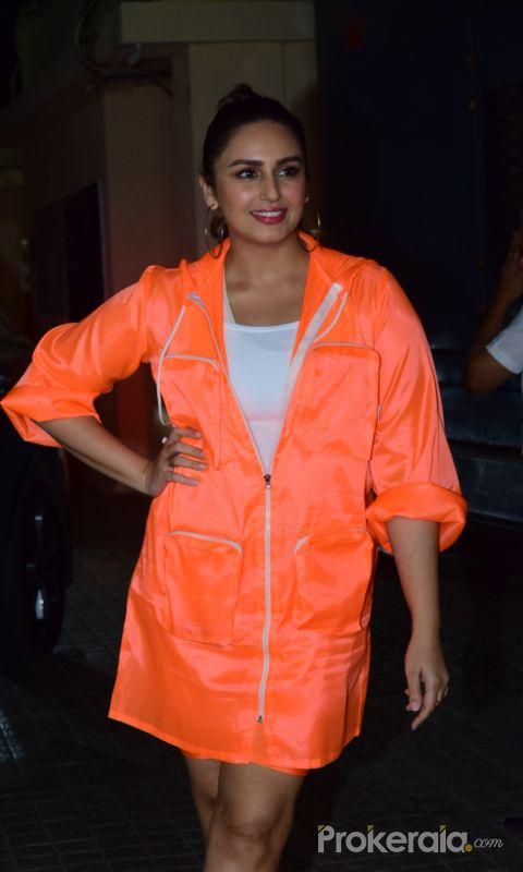 Actress Huma Qureshi at Screening of Angrezi Medium in pvr juhu