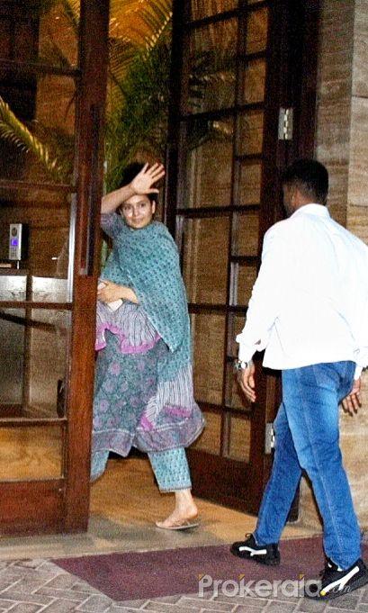 Actress Kangana Ranaut seen at dance class in bandra.