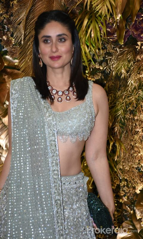 Actress Kareena Kapoor at  Armaan Jain wedding party