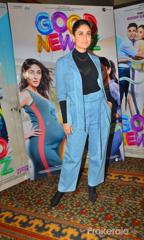 Actress Kareena Kapoor at the media interactions for film Good Newwz.