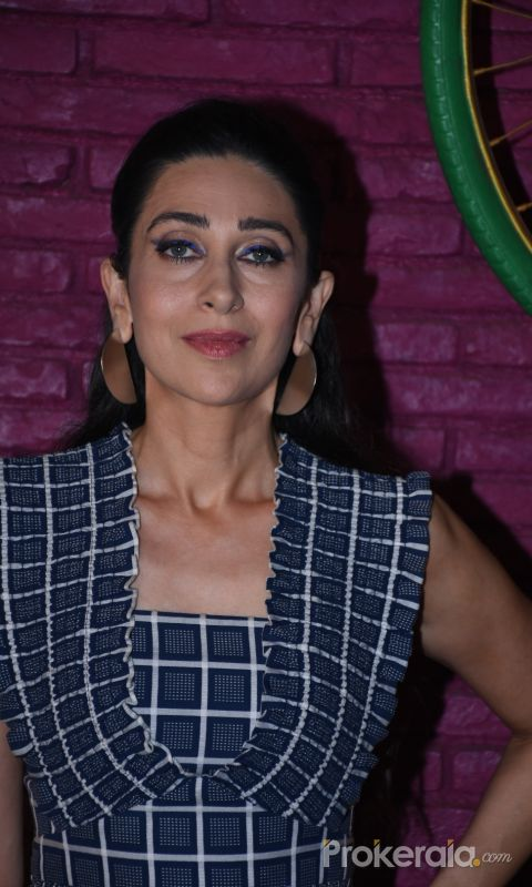 Actress Karisma Kapoor poses for photo during the promotions of Mental Hood at bandra