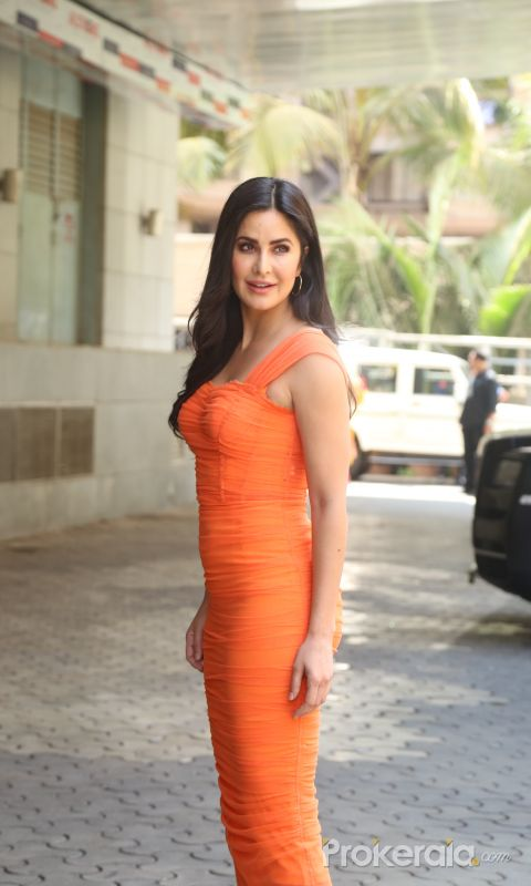 Actress Katrina Kaif arrived for trailer launch of film Sooryavanshi at pvr icon in andheri