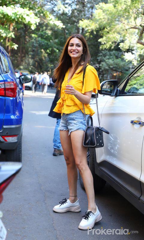 Actress Kriti kharbanda seen at Andheri