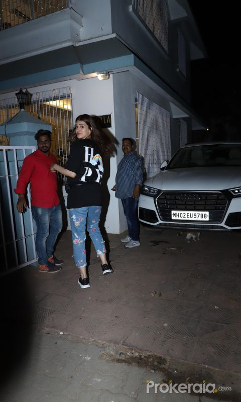 Actress Kriti Sanon seen at juhu.