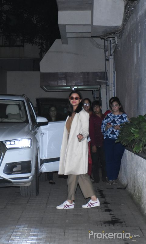 Actress Parineeti Chopra spotted at old dharma office in Bandra