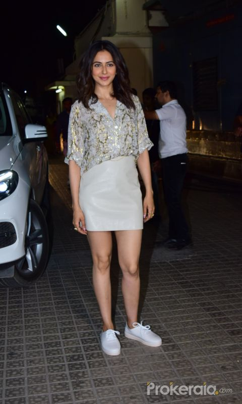 Actress Rakul preet Singh at Screening of Angrezi Medium in pvr juhu