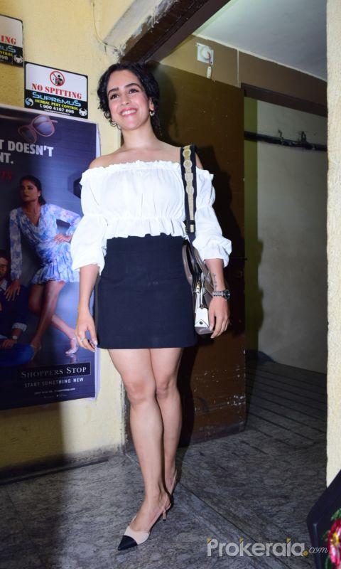 Actress Sanya Malhotra at Screening of Angrezi Medium in pvr juhu