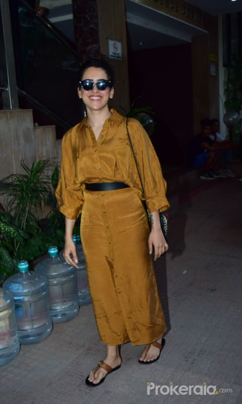 Actress Sanya Malhotra poses for a photo at andheri