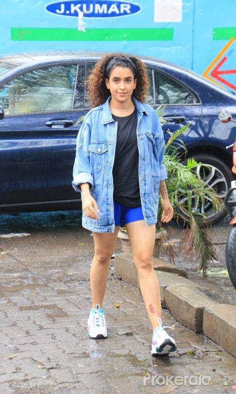 Actress Sanya Malhotra spotted at andheri