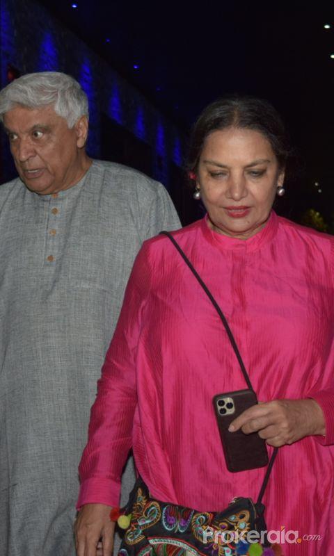 Actress Shabana Azmi spotted at hakkasan bandra.