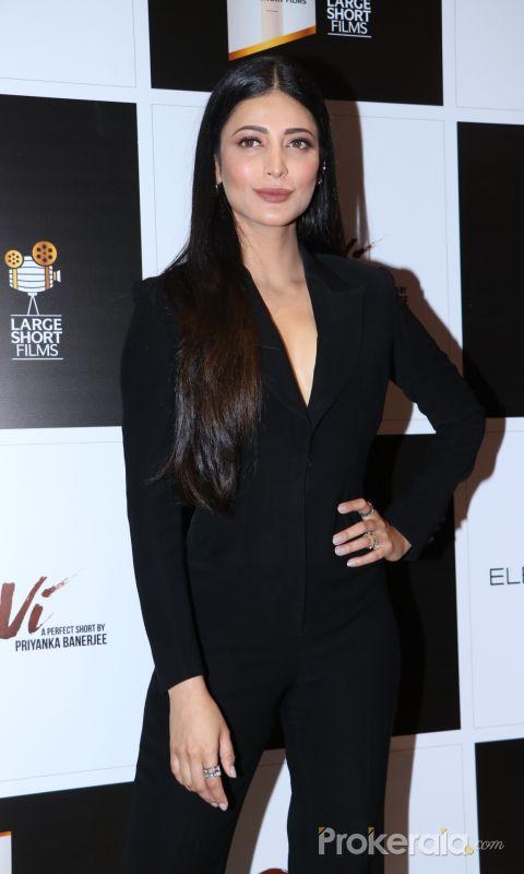 Actress shruti Haasan at screening of movie Devi