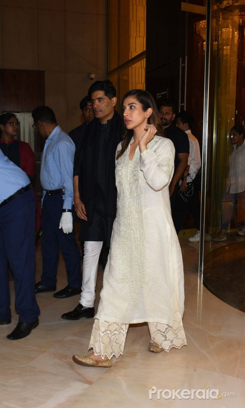 Actress Sophie Choudry attend Manish Malhotra's father's prayer meeting