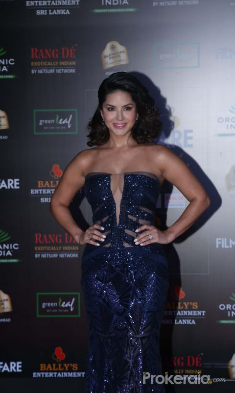 Actress Sunny Leone in Filmfare Glamour And Style Awards 2019.