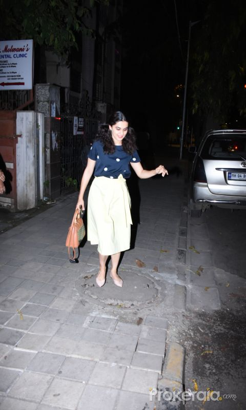 Actress Taapsee Pannu spotted at khar