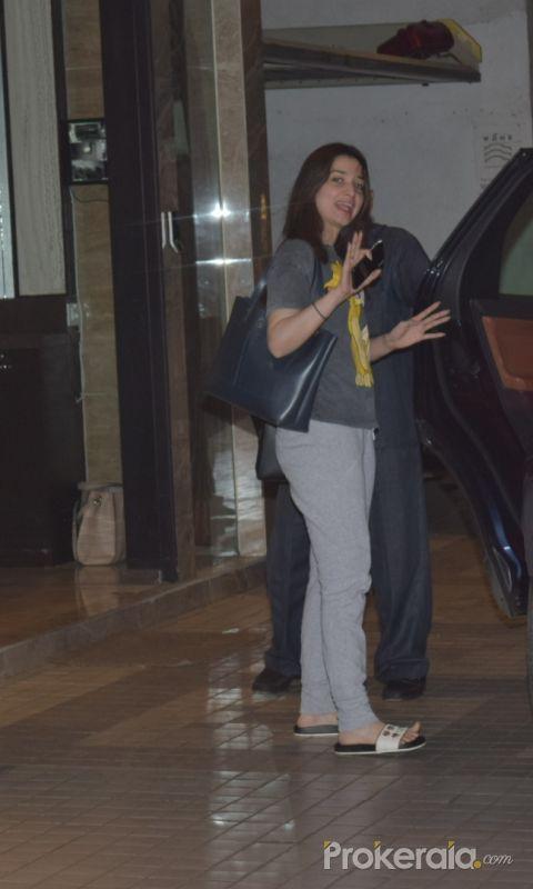 Actress Tamanna Bhatia seen juhu.