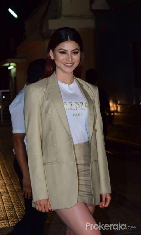 Actress Urvashi Rautella at Screening of Angrezi Medium in pvr juhu